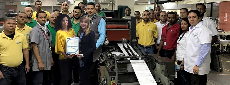 EQA entrega el certificado de ISO 9001 a la empresa Formularios Comerciales